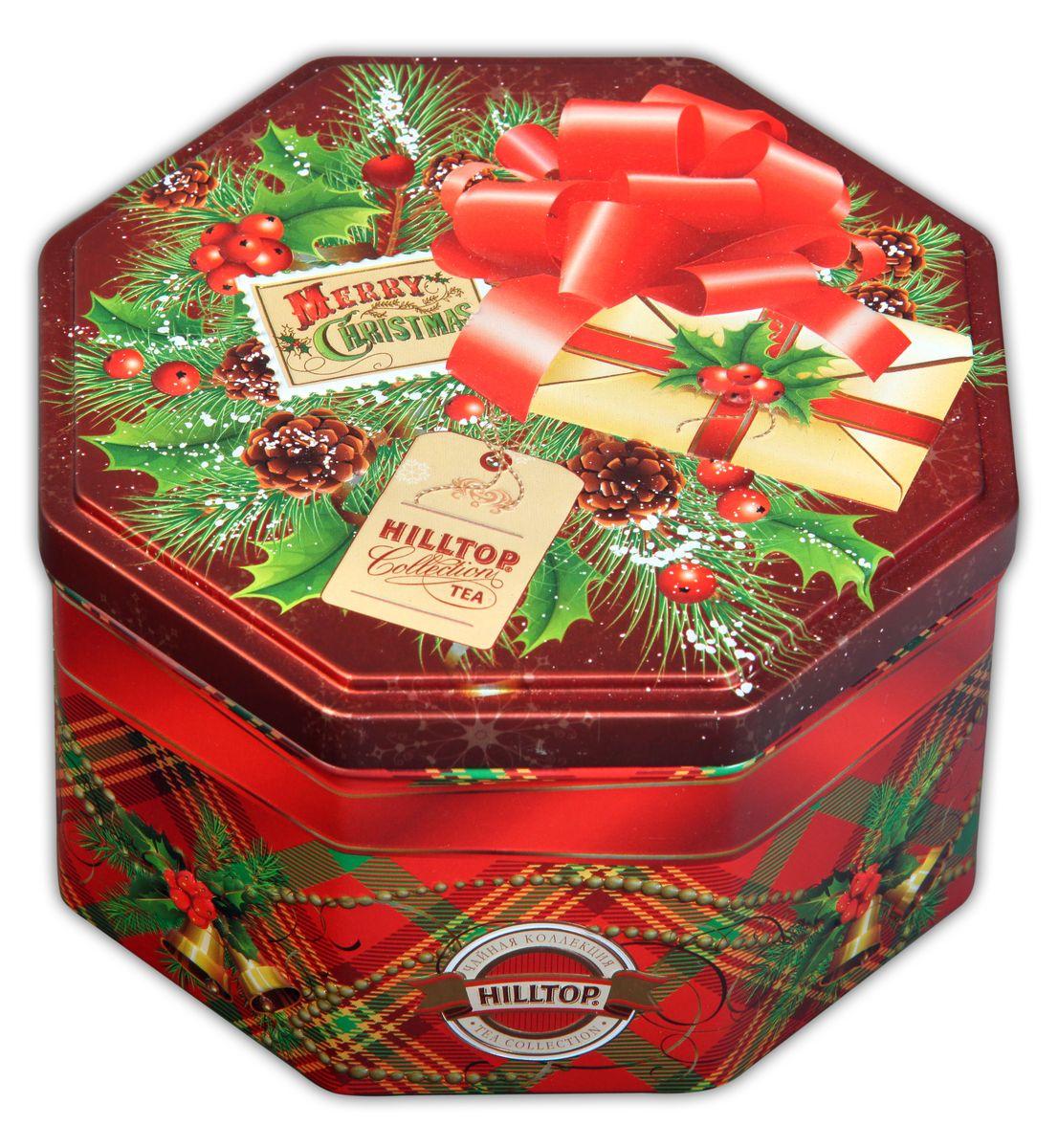 Hilltop С Рождеством Праздничный черный листовой чай, 150 г4607099302914Hilltop С Рождеством - крупнолистовой черный чай с цветами календулы и василька. Содержит сладкие цукаты манго и банана