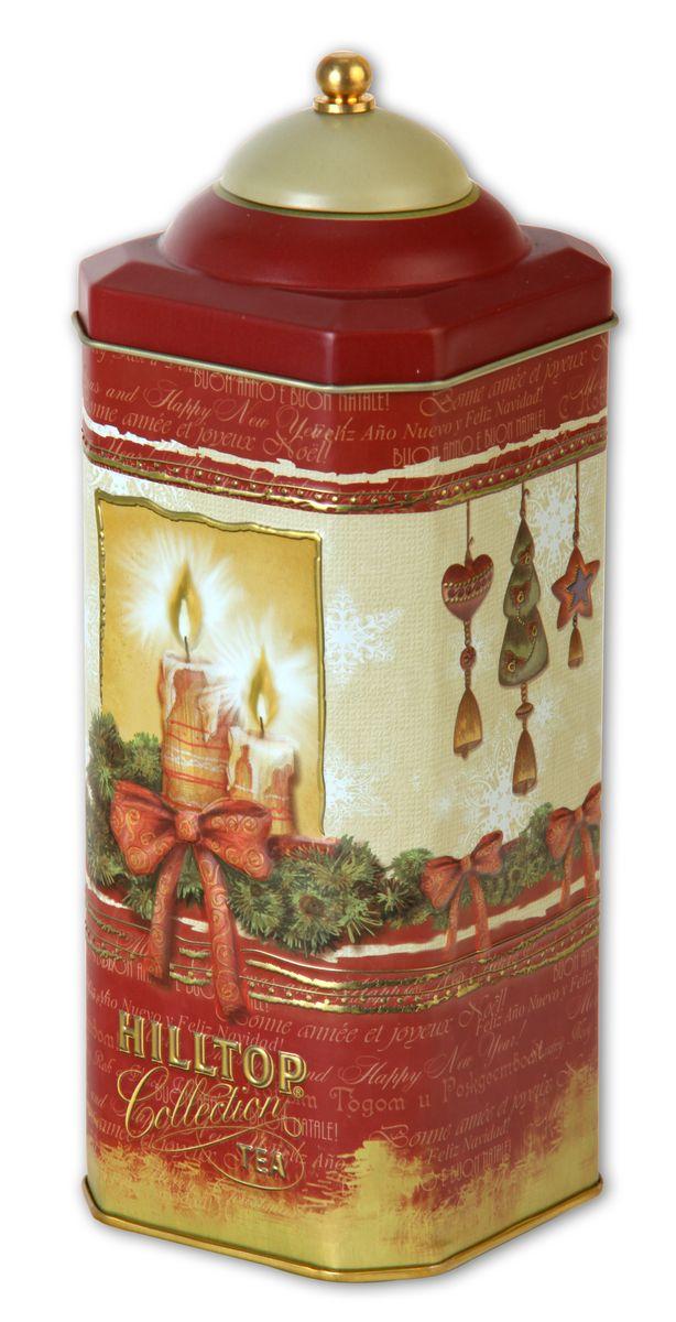 Hilltop Рождественская ночь Рождественский черный листовой чай, 125 г4607099302952Фонарик — символ уюта и сокровенного настроения... Зажгите тепло праздничных встреч для своих гостей вместе с чаем Hilltop Рождественская ночь Ароматный черный чай с корицей и цедрой апельсина дополнен миндальным орехом, инжиром и гвоздикой.