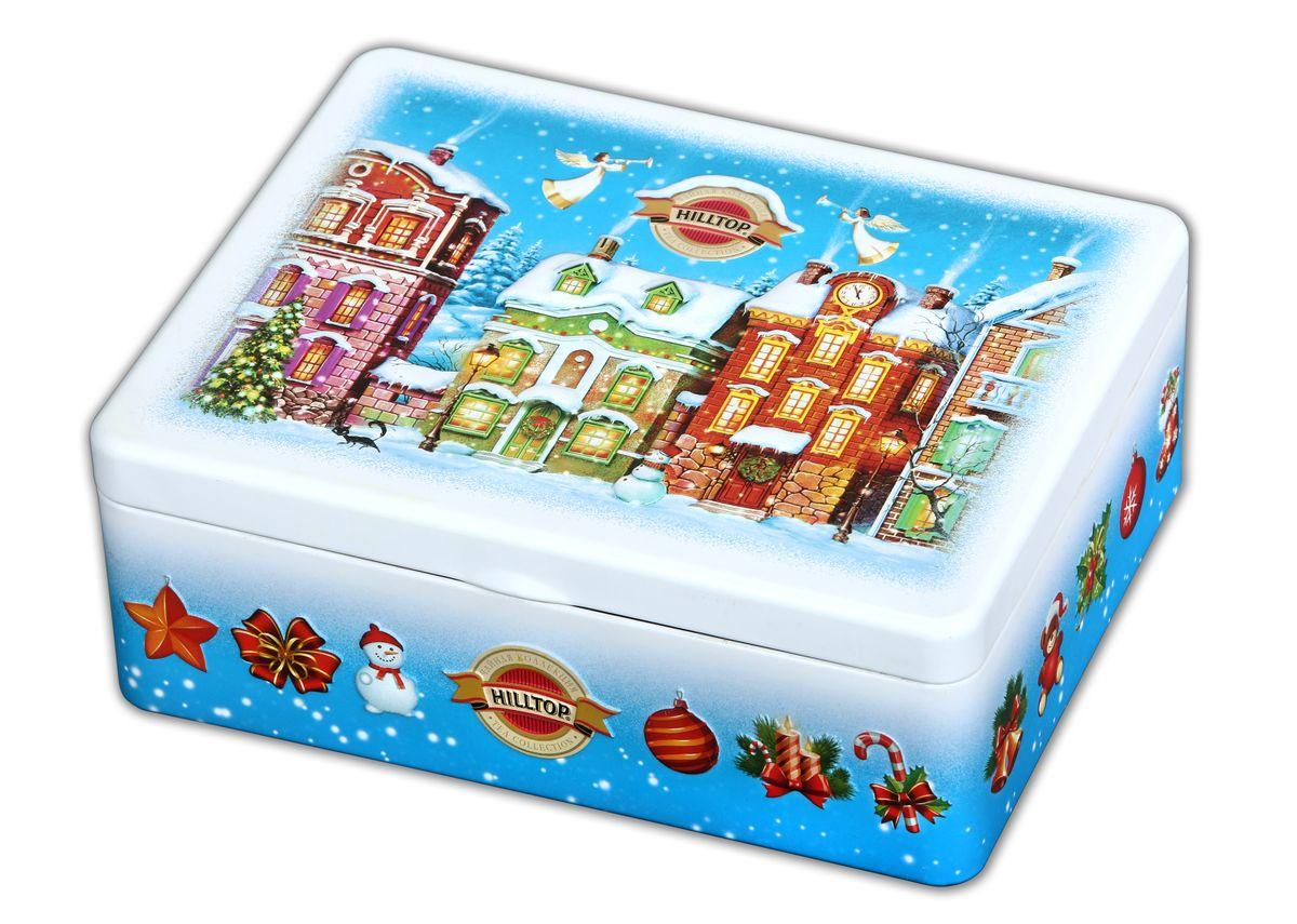Hilltop Волшебный праздник набор черного и зеленого листового чая (шкатулка)4607099303409Празднично убранная елка, пушистые зеленые венки над входной дверью, яркие огоньки разноцветных гирлянд - все это создает неповторимую магию Рождества. Пусть чай в этот вечер тоже будет праздничным, таким как Hilltop Волшебный праздник - с кусочками апельсиновой цедры и яблок, с различными пряностями, которые придают напитку чудесный зимний вкус и теплый пряный аромат. А также приятный согревающий эффект, а вместе с ним - ощущение праздника... Традиции Цейлона - классический цейлонский среднелистовой чай с насыщенным ароматом и благородным терпким вкусом, отвечающий самым высоким требованиям любителей чая. Земляника со сливками - классическое сочетание черного чая с листьями и плодами земляники и со вкусом свежих сливок. Настой насыщенного медового цвета с нежным сливочным вкусом и земляничным ароматом прекрасно освежает и утоляет жажду. Цитрусовая фантазия - черный чай с благоухающим ароматом апельсинового масла, дополненным календулой и...