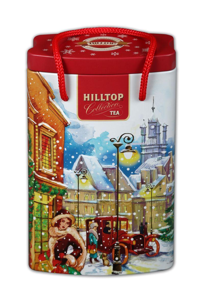 Hilltop За подарками Эрл Грей черный листовой чай, 125 г4607099303423Черный крупнолистовой чай Hilltop За подарками с цедрой апельсина и ароматом бергамота.