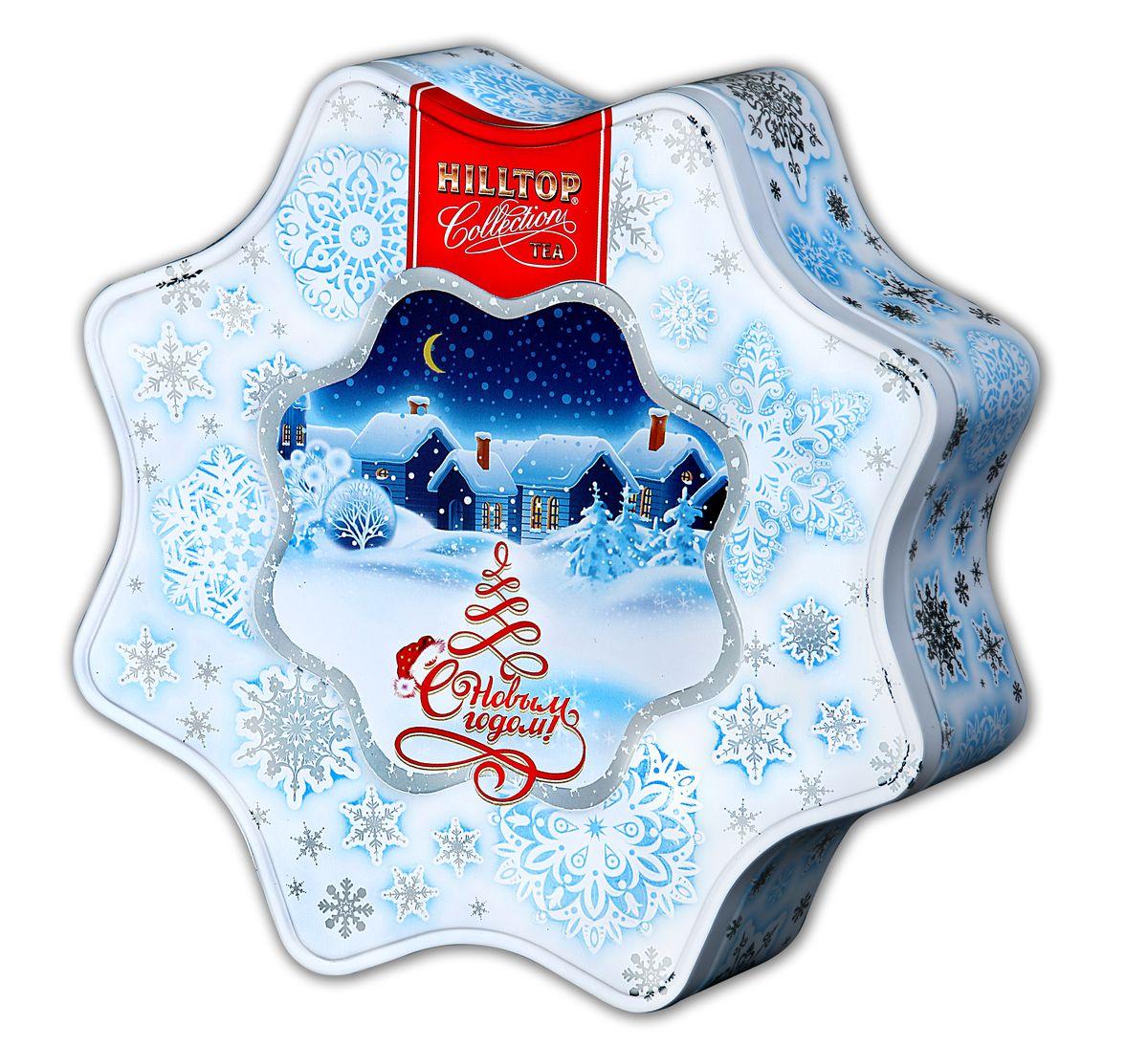 Hilltop Снежинка белая Молочный оолонг улун листовой, 100 г4607099303508Знаменитый китайский полуферментированный чай Улун с нежным ароматом свежих сливок и сливочно-карамельным послевкусием вы найдете в наборе Hilltop Снежинка белая. Этот чай в красивой праздничной упаковке можно преподнести в подарок, или просто украсить им новогоднее или рождественское чаепитие в кругу друзей.