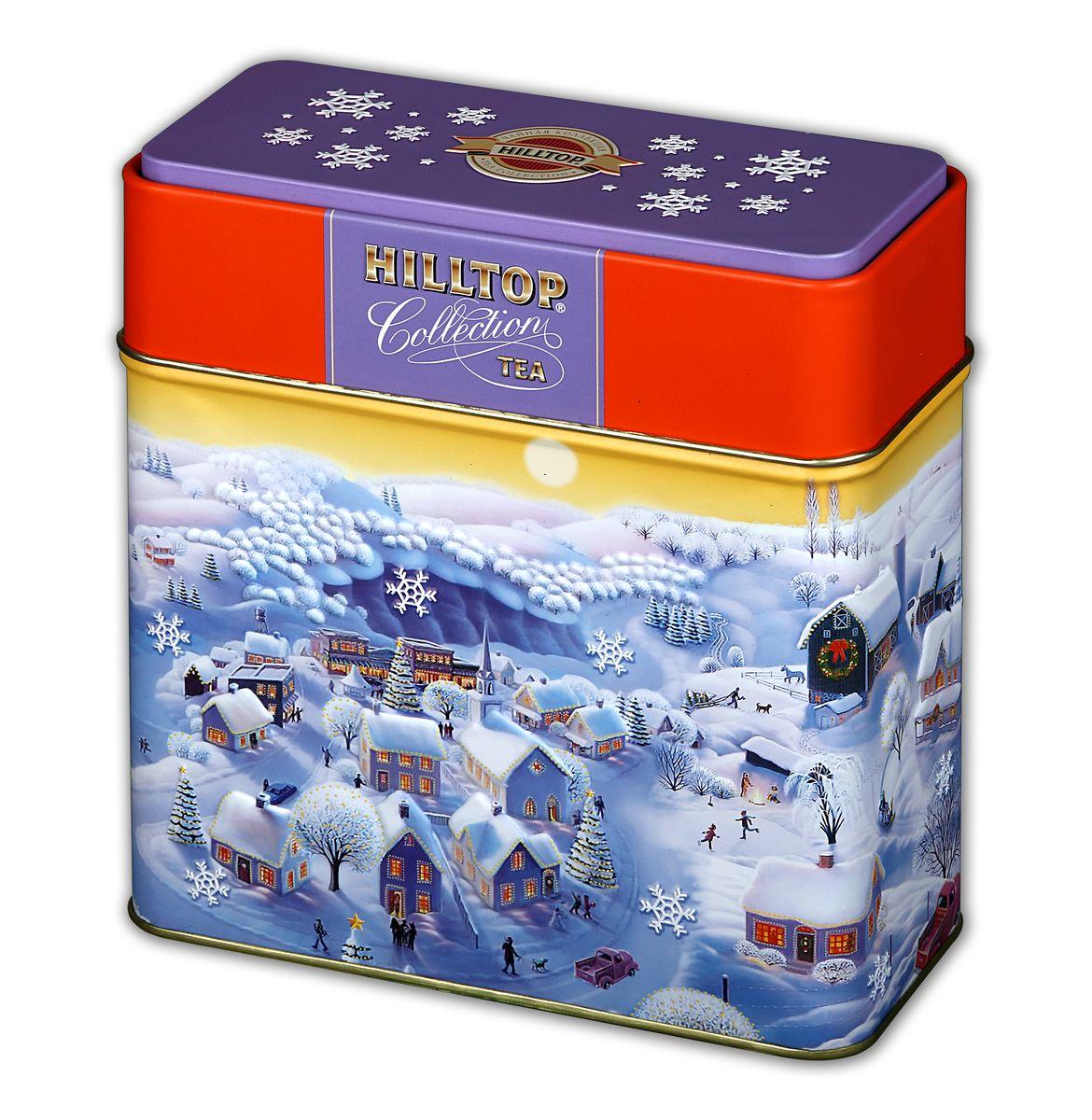 Hilltop Сказочные домики черный листовой чай, 200 г4607099303607Hilltop Сказочные домики - особо крупнолистовой цейлонский черный чай с насыщенным ароматом и терпким вкусом будет безупречным дополнением к новогоднему столу, а также отличным подарком для ваших близких! Яркая подарочная упаковка чая на новогоднем чаепитии безусловно порадует ваших гостей!