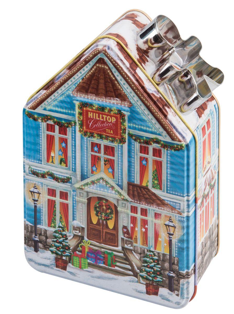 """Hilltop """"Домик с рецептом """"Новогодний"""" черный листовой чай, 100 г 4607099304307"""