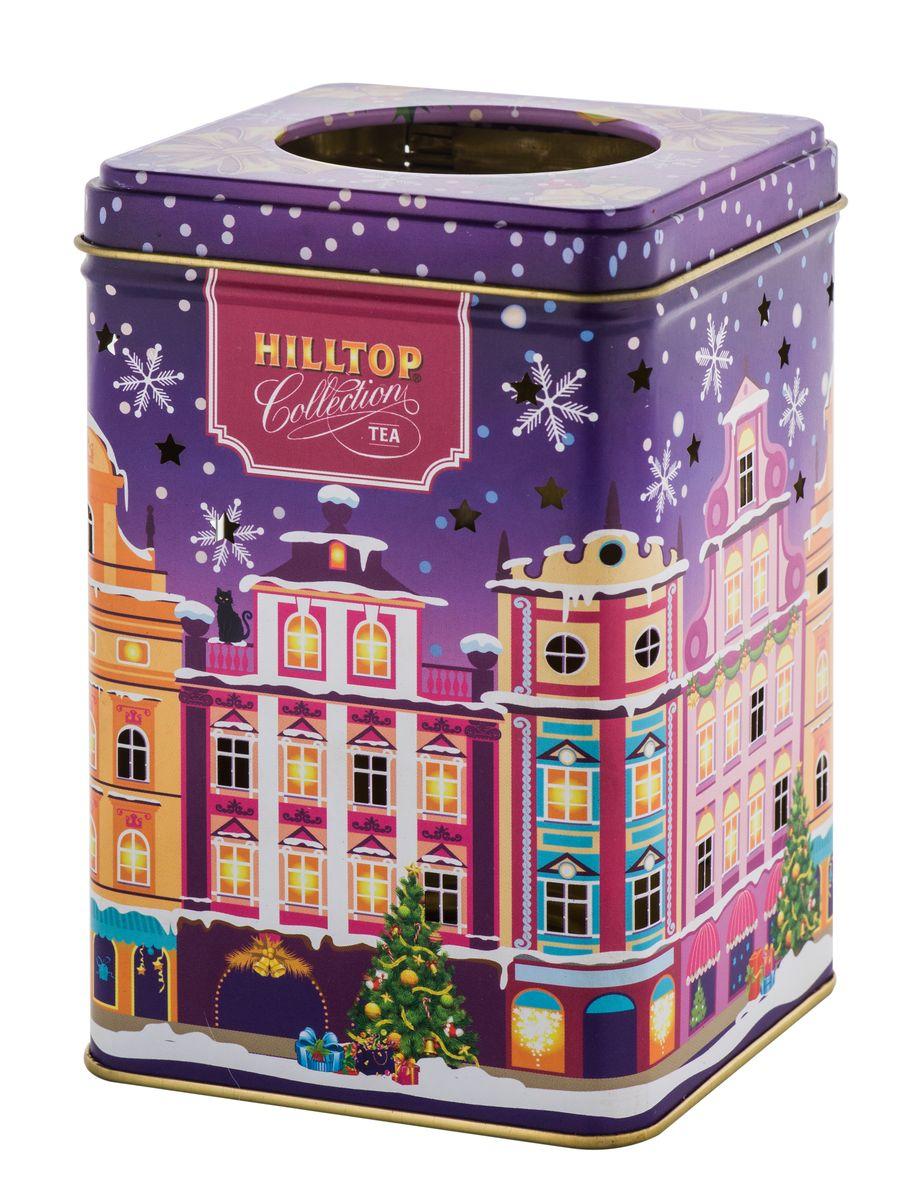 Hilltop Вечерний город черный листовой чай, 100 г4607099304345Hilltop Вечерний город - благородный китайский черный чай, сочетающий утонченный древесный аромат с крепостью настоя и богатым вкусом с оттенком чернослива. Праздничная нарядная упаковка будет великолепно смотреться на семейном новогоднем застолье.