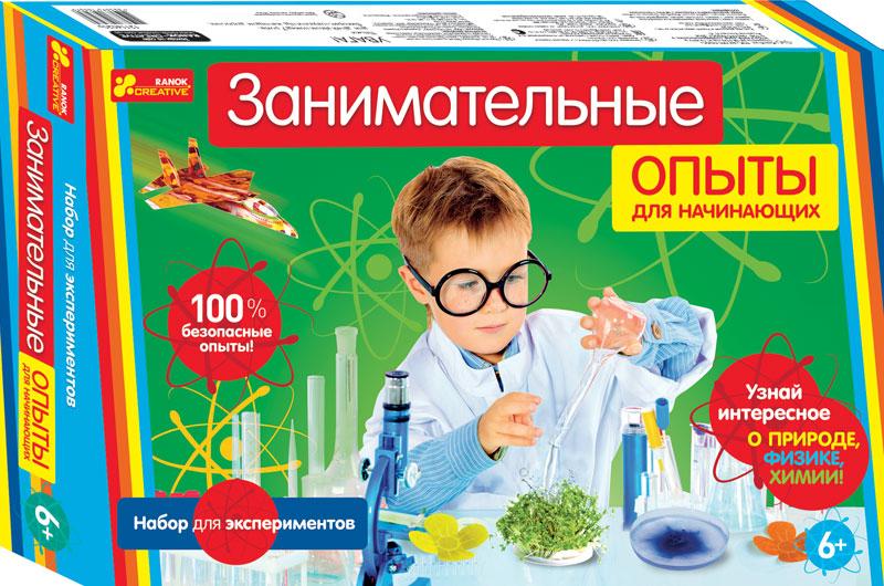 Ranok Набор для экспериментов Занимательные опыты для начинающих12114020РХочешь раскрыть тайны природу и знать новое о растениях, воздухе, воде и многом другом? Тогда вооружись своим первым эспериментальным набором и приступай к проведению опытов! А твои родители охотно помогут тебе в твоих начинаниях.