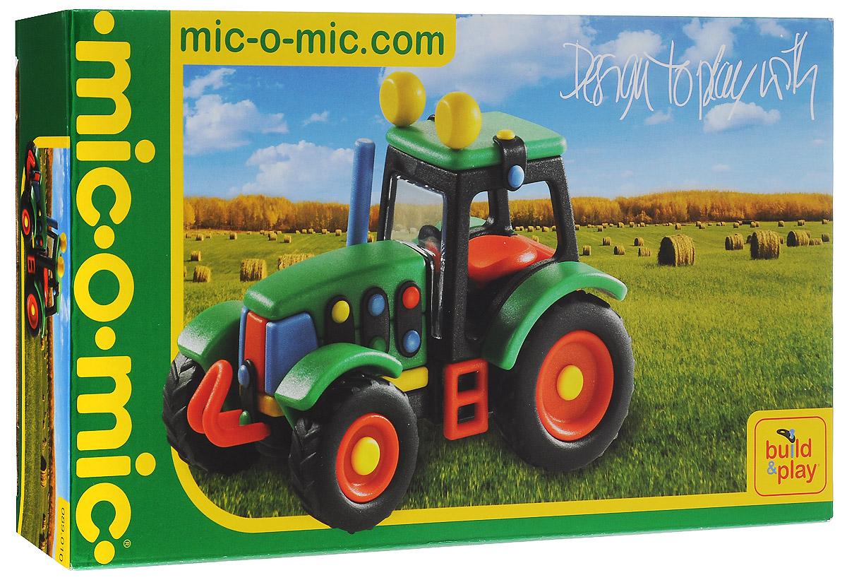 Mic-o-Mic Конструктор Трактор089.010Яркий пластиковый конструктор Трактор привлечет внимание вашего ребенка и не позволит ему скучать. С помощью элементов конструктора ребенок сможет собрать разноцветный трактор, детали которого соединяются болтами. В комплект также входят запасные кнопки, пластины и инструмент для монтажа. Развивающие конструкторы Mic-o-Mic объединяют в себе дизайн и особое ощущение при прикосновении с обучающей педагогической идеей. Во время сборки модели особенно развиваются мелкая моторика и сила воображения, логическое и пространственное мышление и творческие способности, а также концентрация внимания и усидчивости. Оригинальные конструкторы Mic-o-Mic разработаны в Германии и являются особыми игрушками для детей, направленными на развитие различных способностей и навыков. Набор состоит из отдельных деталей с приятной на ощупь текстурой и уникальной системы крепления из соединительных планок и кнопок для сборки модели. Будь то крылья, колеса или паруса, модели отличаются четкими...