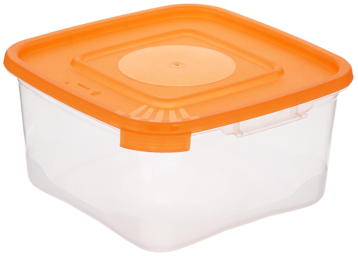 Контейнер Полимербыт Каскад, цвет: оранжевый, прозрачный, 460 млС610_оранжевыйКонтейнер Полимербыт Каскад квадратной формы, изготовленный из прочного пластика, предназначен специально для хранения пищевых продуктов. Крышка легко открывается и плотно закрывается. Прозрачные стенки позволяют видеть содержимое. Контейнер устойчив к воздействию масел и жиров, легко моется. Контейнер имеет возможность хранения продуктов глубокой заморозки, обладает высокой прочностью. Можно мыть в посудомоечной машине. Подходит для использования в микроволновых печах.