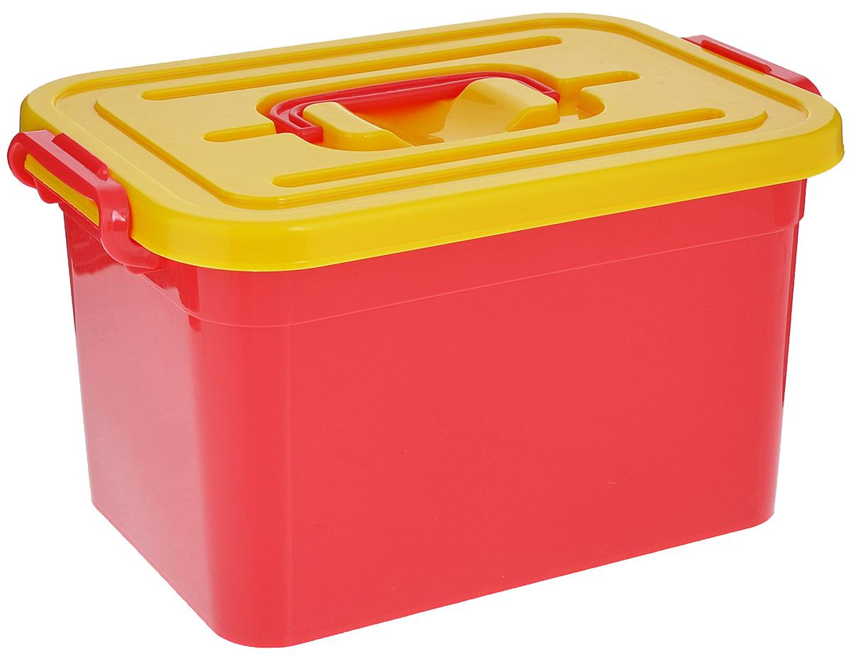 Контейнер для шашлыка Кухня Все на пикник, цвет: красный, желтый, 6,5 лС80933_красный, желтыйКонтейнер для шашлыка Кухня Все на пикник выполнен из высококачественного пластика. Контейнер снабжен удобной ручкой и двумя пластиковыми фиксаторами по бокам, придающими дополнительную надежность закрывания крышки. Вместительный контейнер позволит взять с собой на пикник необходимое количество шашлыка, а герметичная крышка предотвратит случайное открывание, сохранит свежесть и аромат мяса.