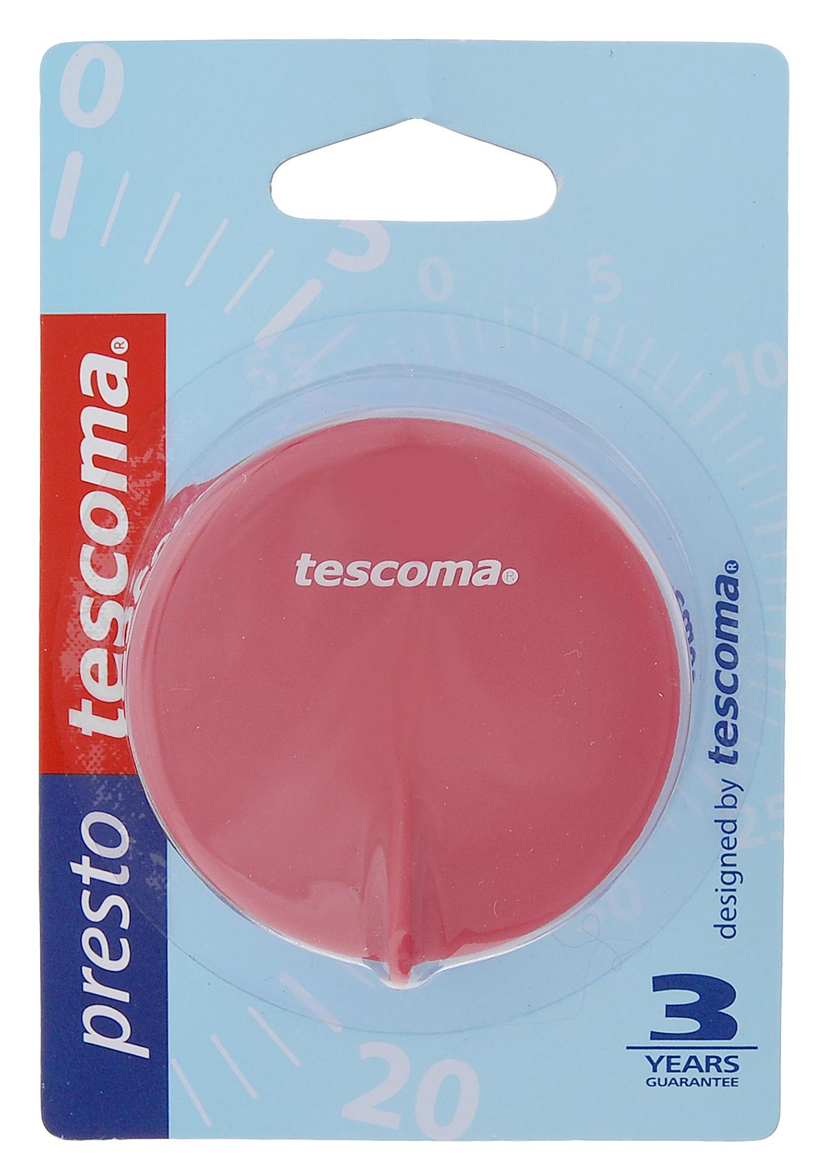 Таймер кухонный Tescoma Presto, цвет: малиновый, белый, на 60 мин636070_малиновый, белыйКухонный таймер Tescoma Presto изготовлен из цветного пластика. Максимальное время, на которое вы можете поставить таймер, составляет 60 минут. После того, как время истечет, таймер громко зазвенит. Изделие оснащено магнитом для удобного размещения в кухне. Оригинальный дизайн таймера украсит интерьер любой современной кухни, и теперь вы сможете без труда вскипятить молоко, отварить пельмени или вовремя вынуть из духовки аппетитный пирог. Общий размер таймера: 5,5 см х 5,7 см х 4 см.
