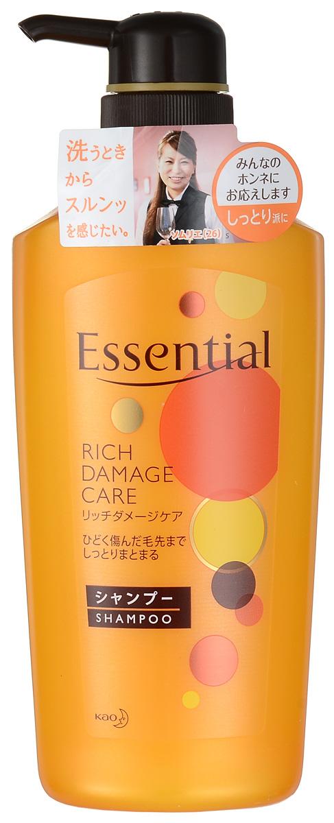 Essential Рич Премия Шампунь для поврежденных волос, 500 мл292896Премиум-шампунь для восстановления сухих, поврежденных, волос с легким ароматом цветов фруктовых деревьев. Шампунь интенсивно увлажняет сухие, окрашенные, сильно поврежденные волосы, питает и восстанавливает их, а также защищает волосы от высыхания при покраске, химической завивке или при использовании фена. Специальная формула двойного концентрирования меда и масла дерева Ши лечит, питает, увлажняет и придает эластичность волосам. Экстракт яблока, входящий в состав шампуня, обладает смягчающими, тонизирующими, освежающими свойствами, наполняет волосы энергией витаминов, поддерживает естественный уровень увлажненности кожи головы и волос, придает шелковистость. Масло жожоба защищает волосы от ломкости, сечения кончиков и способствует росту новых волос. Волосы становятся эластичными, воздушными и объемными, приобретают здоровый блеск благодаря маслу подсолнечника.