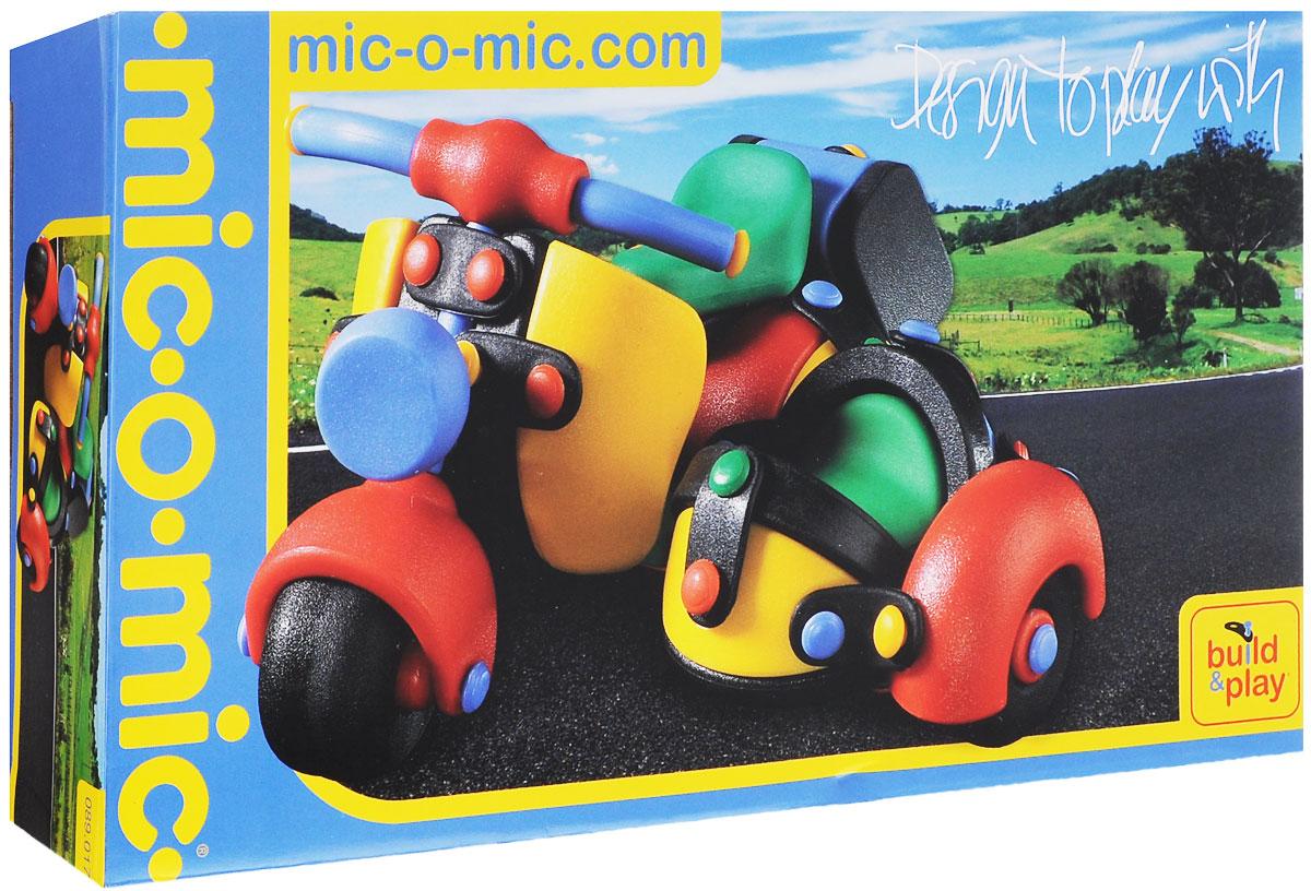 Mic-o-Mic Конструктор Мотоцикл с коляской089.017Яркий пластиковый конструктор Мотоцикл с коляской привлечет внимание вашего ребенка и не позволит ему скучать. С помощью элементов конструктора ребенок сможет собрать разноцветный мотоцикл, детали которого соединяются болтами. В комплект также входят запасные кнопки, пластины и инструмент для монтажа. Развивающие конструкторы Mic-o-Mic объединяют в себе дизайн и особое ощущение при прикосновении с обучающей педагогической идеей. Во время сборки модели особенно развиваются мелкая моторика и сила воображения, логическое и пространственное мышление и творческие способности, а также концентрация внимания и усидчивости. Оригинальные конструкторы Mic-o-Mic разработаны в Германии и являются особыми игрушками для детей, направленными на развитие различных способностей и навыков. Набор состоит из отдельных деталей с приятной на ощупь текстурой и уникальной системы крепления из соединительных планок и кнопок для сборки модели. Будь то крылья, колеса или паруса, модели...
