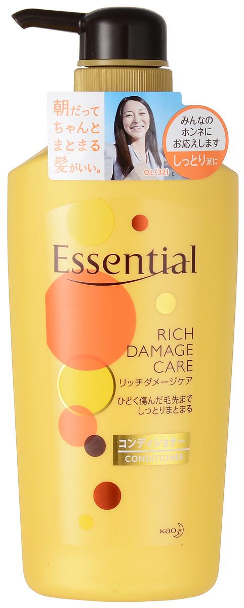 Essential Рич Премия Кондиционер для поврежденных волос, 500 мл292957Премиум-кондиционер для восстановления сухих, поврежденных, волос с легким ароматом цветов фруктовых деревьев. Кондиционер обеспечивает легкость в расчесывании и защищает волосы от высыхания при использовании фена. Специальная формула двойного концентрирования меда и масла дерева Ши лечит, питает, увлажняет и придает эластичность волосам. Экстракт яблока, входящий в состав кондиционера, обладает смягчающими, тонизирующими, освежающими свойствами, наполняет волосы энергией витаминов, поддерживает естественный уровень увлажненности кожи головы и волос, придает шелковистость. Масло жожоба защищает волосы от ломкости, сечения кончиков и способствует росту новых волос. Волосы становятся эластичными, воздушными и объемными, приобретают здоровый блеск благодаря маслу подсолнечника.