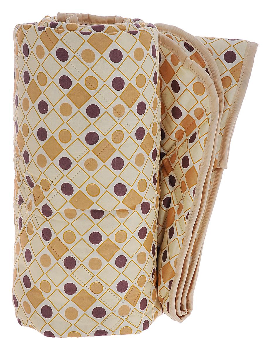 Одеяло Верблюжье, наполнитель: шерсть, вискоза, цвет: бежевый, молочный, коричневый, 172 см х 205 см120719051_круги, ромбыОдеяло Верблюжье порадует вас своим теплом и качеством! Чехол одеяла изготовлен из инновационного материала - биософт с фигурной безниточной стежкой, наполнитель - 40% верблюжья шерсть и 60% вискоза. Биософт - ткань из полиэстеровой нити с плотной и шелковистой на ощупь структурой. Легко стирается, не деформируется, не садится, быстро сохнет и сохраняет цвет на долгое время. Изделия из этой ткани очень легкие. Верблюжья шерсть давно оценена потребителями за исключительные достоинства, присущие только ей: - оздоравливающие свойства - благодаря содержанию ланолина нейтрализует токсины, улучшает микроциркуляцию кожи, расширяет сосуды, усиливает обмен веществ и помогает избавиться от ревматических болей; - воздухопроницаемость - полая структура волоса позволяет воздуху свободно циркулировать внутри изделий; - гипоаллергенность.