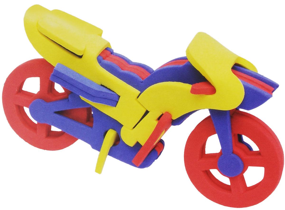 Фантазер Мягкий конструктор 3D Мотоцикл147024Яркий 3D конструктор Мотоцикл привлечет внимание вашего ребенка и не позволит ему скучать. В набор входит 11 деталей конструктора. Размер составных элементов конструктора очень удобен для того, чтобы ребенку было удобно и комфортно в него играть. Собирая конструктор, ребенок разовьет внимание, воображение, мелкую моторику рук, пространственное и логическое мышление, а собранная своими руками игрушка будет для него гораздо дороже, чем готовая - ведь он вложил в нее свой драгоценный труд.