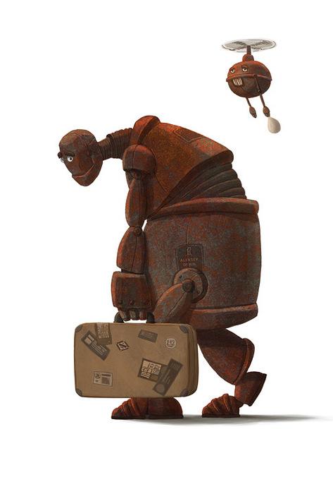 Открытка Робот. Автор: Алексей ДёринDA10-001Оригинальная дизайнерская открытка Робот выполнена из плотного матового картона. На лицевой стороне расположена репродукция картины художника Дёрина Алексея с изображением грустного робота с чемоданом. На обратной стороне имеется поле для записей. Такая открытка станет великолепным дополнением к подарку или оригинальным почтовым посланием, которое, несомненно, удивит получателя своим дизайном и подарит приятные воспоминания.