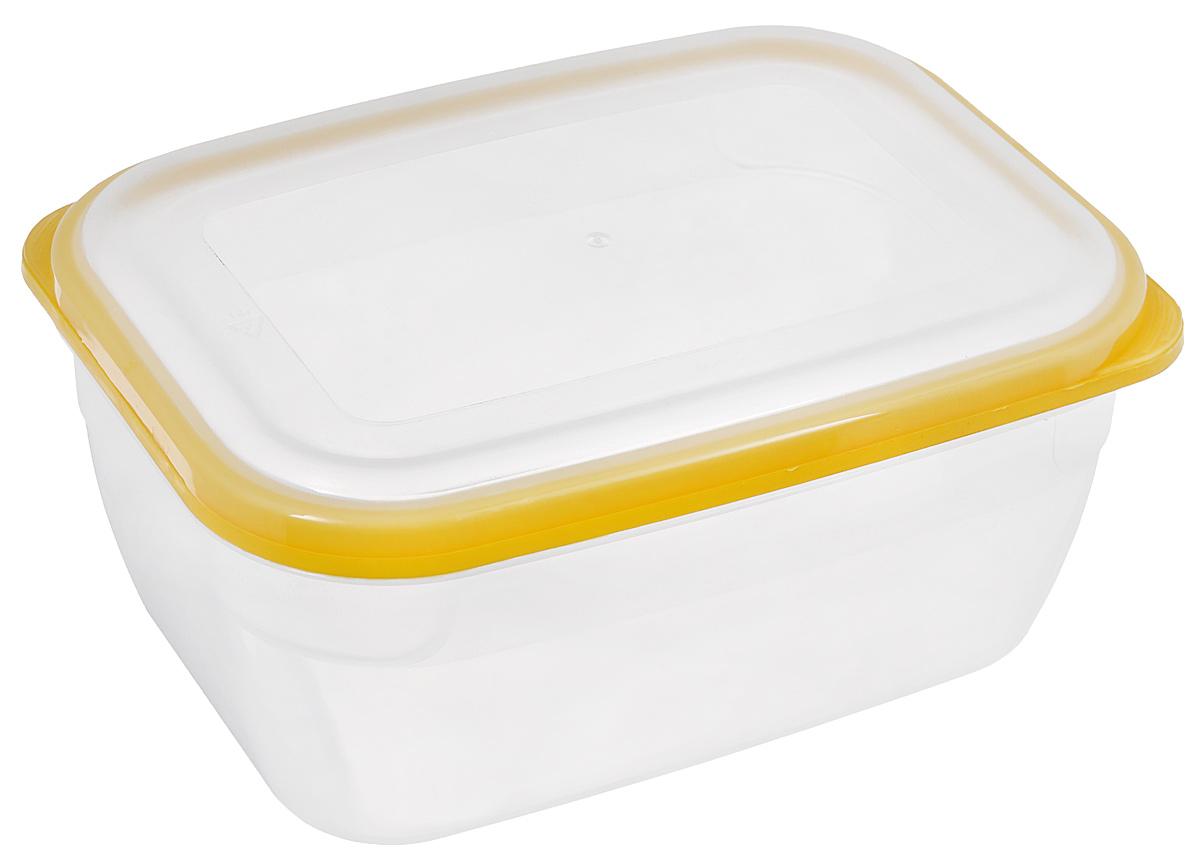Контейнер для СВЧ Премиум, цвет: желтый, прозрачный, 1,8 лС564_желтыйПищевой контейнер предназначен специально для хранения пищевых продуктов. Крышка легко открывается и плотно закрывается. Устойчив к воздействию масел и жиров, легко моется. Прозрачные стенки позволяют видеть содержимое. Емкость имеет возможность хранения продуктов глубокой заморозки, обладает высокой прочностью. Контейнер необыкновенно удобен: в нем можно брать еду на работу, за город, ребенку в школу. Именно поэтому подобные контейнеры обретают все большую популярность. Размер: 20 см х 14,5 см х 9 см.