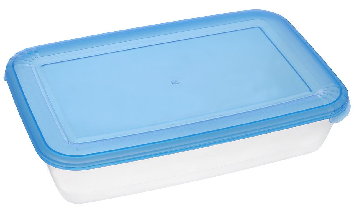 Контейнер для СВЧ Полимербыт Лайт, цвет: синий, прозрачный, 900 млС552_синийПрямоугольный контейнер для СВЧ Полимербыт Лайт изготовлен из высококачественного полипропилена, устойчивого к высоким температурам (до +120°С). Яркая цветная крышка плотно закрывается, дольше сохраняя продукты свежими и вкусными. Контейнер идеально подходит для хранения пищи, его удобно брать с собой на работу, учебу, пикник или просто использовать для хранения пищи в холодильнике. Можно использовать в микроволновой печи и для заморозки в морозильной камере при минимальной температуре -40°С. Можно мыть в посудомоечной машине.