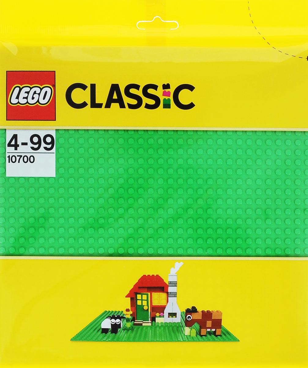 LEGO Classic Конструктор Строительная пластина цвет зеленый 1070010700Создаете ли вы сад, лес, пустыню или что-то продиктованное вам собственным воображением, эта базовая пластина зеленого цвета размером 25,5 см x 25,5 см (32х32 выступа) - идеальная отправная точка для сборки, демонстрации ваших творений из конструктора LEGO и игры с ними. Конструктор - это один из самых увлекательнейших и веселых способов времяпрепровождения. Ребенок сможет часами играть с конструктором, придумывая различные ситуации и истории. В процессе игры с конструкторами LEGO дети приобретают и постигают такие необходимые навыки как познание, творчество, воображение. Обычные наблюдения за детьми показывают, что единственное, чему они с удовольствием посвящают время - это игры. Игра - это состояние души, это веселый опыт познания реальности. Играя, дети создают собственные миры, осваивают их, восстанавливают прошедшие и будущие события через понарошку, а, познавая, приобретают знания и умения. Фантазия ребенка безгранична, беря свое начало в детстве, она позволяет ребенку...