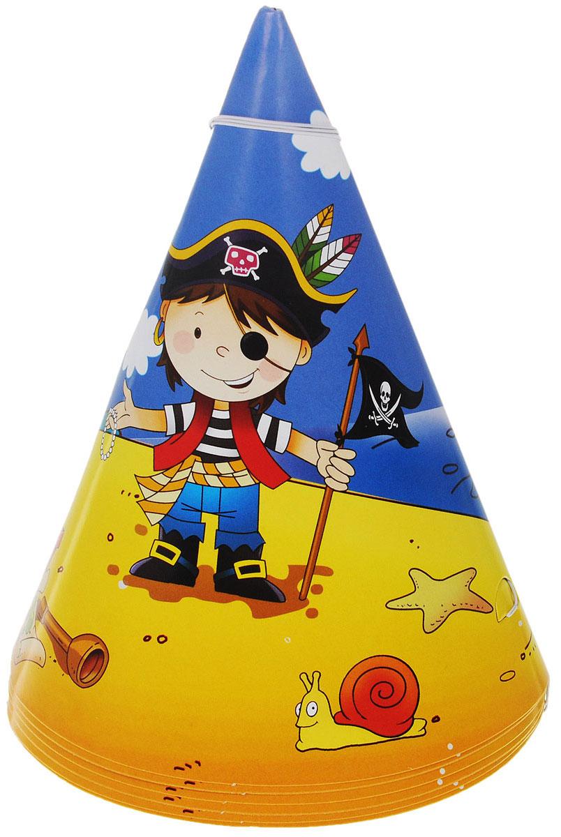 Веселая затея Колпак Маленький пират, 6 шт1501-1904Колпак Веселая затея Маленький пират развеселит вас и ваших друзей в праздничный день. Колпак выполнен из картона ярких цветов и оформлен изображением юного пирата, добывшего сокровища. Имеет резинку для надежного крепления на подбородке. Порадуйте себя и родных, дарите подарки и хорошее настроение! Почувствуйте волшебные минуты ожидания праздника, создайте праздничное настроение вашим дорогим и близким! В комплекте 6 колпаков.