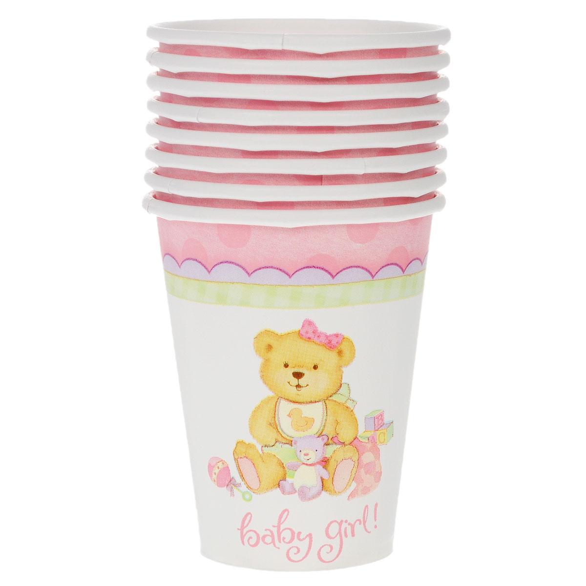 Веселая затея Стакан Медвежонок девочка, 8 шт1502-1067Стакан Веселая затея Медвежонок девочка изготовлен из качественной пищевой бумаги. Оформлен изображением милого медвежонка-девочки в окружении игрушек. Изделие станет великолепным дополнение к детскому торжеству. Такая посуда является экологически чистой, не наносит вреда здоровью и достаточно быстро самостоятельно утилизируется, не загрязняя окружающую среду. В комплекте 8 стаканов.