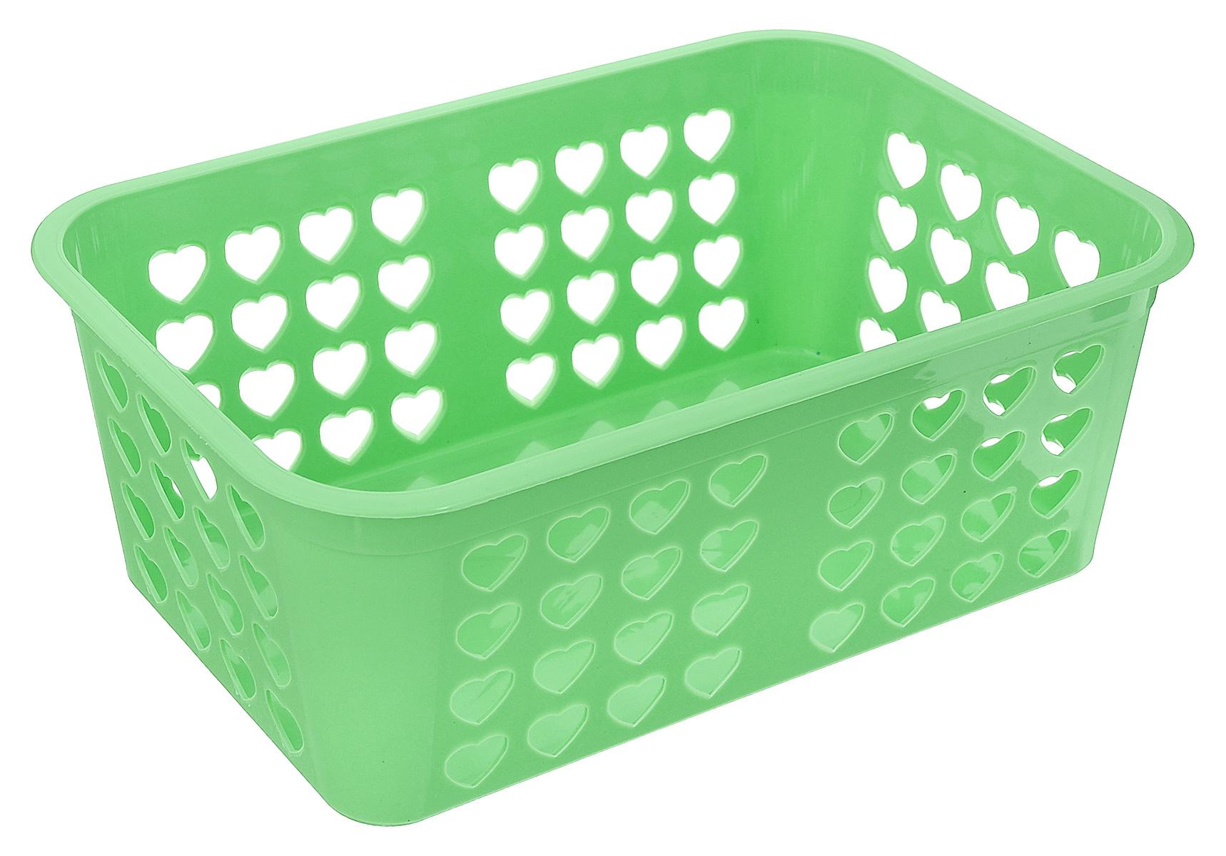 Корзина для хранения Альтернатива Вдохновение, цвет: салатовый, 26,5 х 16,5 х 10 смМ471_салатовыйПрямоугольная корзина Альтернатива Вдохновение, изготовленная из пластика, предназначена для хранения мелочей в ванной, на кухне, даче или гараже. Корзина со сплошным дном, оснащена перфорированными стенками. Элегантный выдержанный дизайн позволяет органично вписаться в ваш интерьер и стать его элементом.