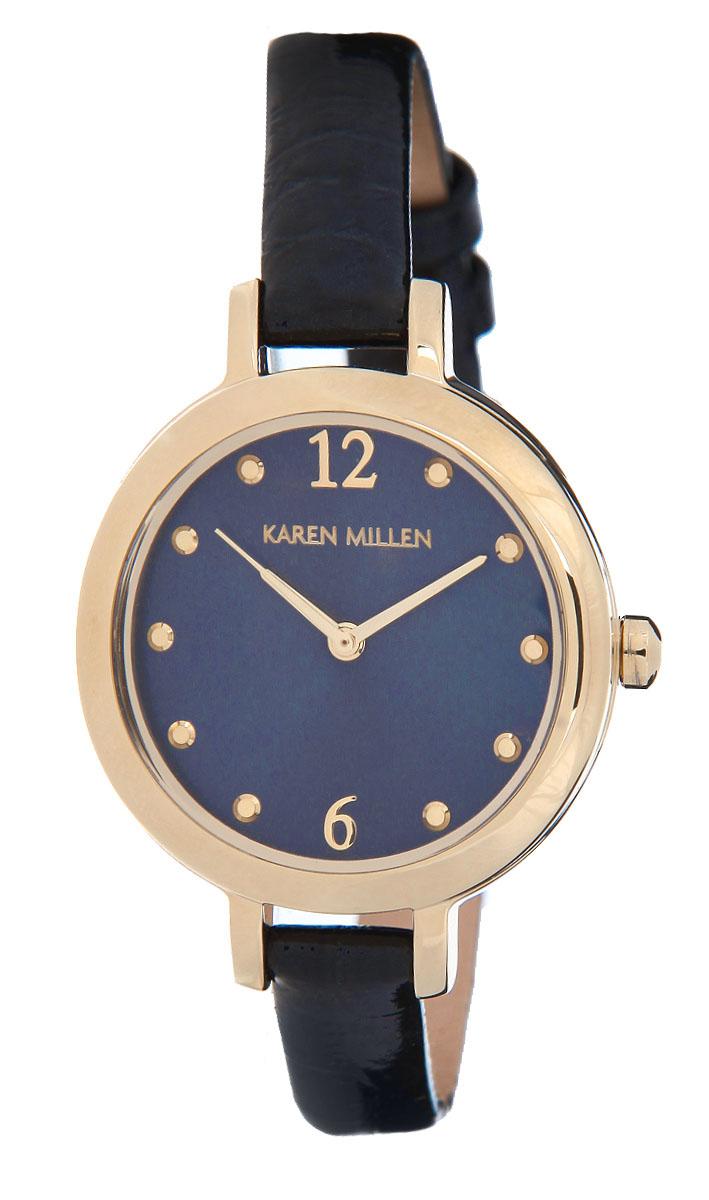 Часы наручные женские Karen Millen, цвет: золотой, синий. KM152UG