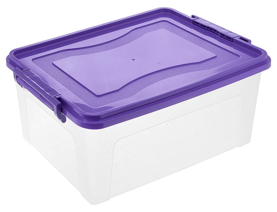 Контейнер для хранения Idea, прямоугольный, цвет: прозрачный, фиолетовый, 20 лМ 2863_прозрачный, фиолетовыйКонтейнер для хранения Idea выполнен из высококачественного пластика. Контейнер снабжен двумя пластиковыми фиксаторами по бокам, придающими дополнительную надежность закрывания крышки. Вместительный контейнер позволит сохранить различные нужные вещи в порядке, а герметичная крышка предотвратит случайное открывание, защитит содержимое от пыли и грязи.