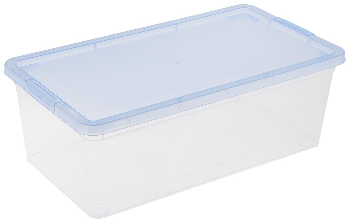 Коробка для мелочей Полимербыт, цвет: голубой, прозрачный, 5,5 лС511_голубойКоробка для мелочей Полимербыт изготовлена из прочного пластика. Стенки изделия прозрачные, что позволяет видеть содержимое. Цветная полупрозрачная крышка плотно закрывается и легко открывается. Коробка идеально подходит для хранения различных мелких бытовых предметов, таких как канцелярские принадлежности, аксессуары для рукоделия и т.д. Такая коробка сохранит все мелкие предметы в одном месте и поможет поддерживать в доме порядок.
