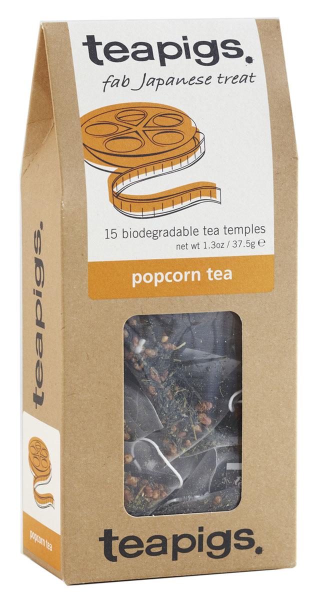 Teapigs Popcorn зеленый чай в пирамидках, 15 шт