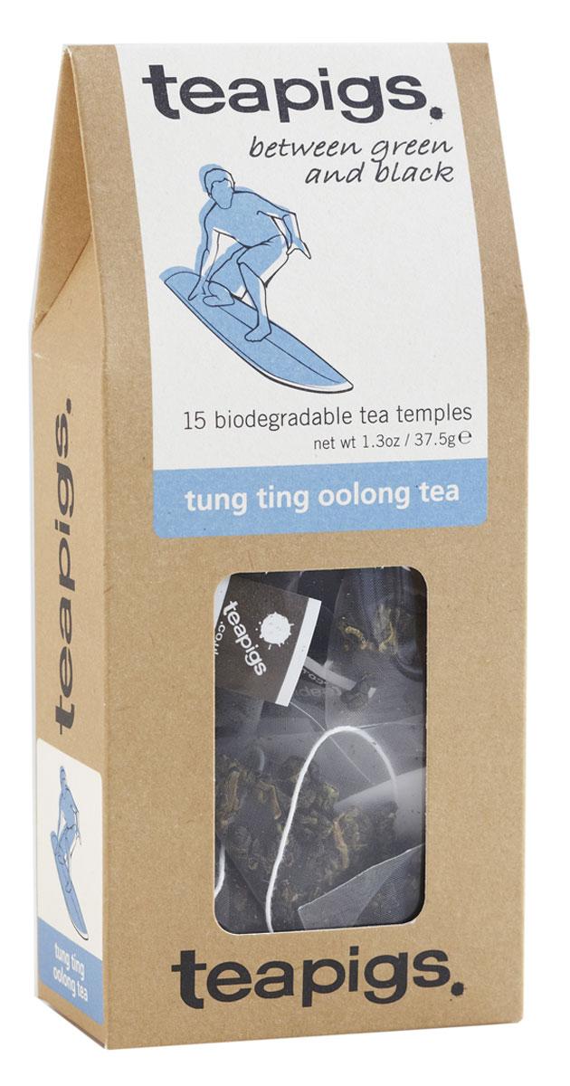 Teapigs Tung Ting Blue зеленый чай в пирамидках, 15 шт11Teapigs Tung Ting Blue — одна из разновидностей улуна. Он назван так в честь горного региона, в котором этот чай произрастает. Многие эксперты считают данный сорт одним из лучших на Тайване. Улун есть нечто среднее между черным и зеленым чаями — в нем сочетаются крепость черного чая и душистый аромат зеленого чая. Улун Дун Дин станет для вас настоящим открытием!