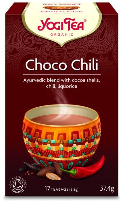 Yogi Tea Choco Chili травяной чай в пакетиках, 17 шт410804Аюрведическая чайная смесь Yogi Tea Choco Chili с оболочками какао-бобов, чили и солодкой. Вдохновением для создания Yogi Tea Choco Chili послужил традиционный Xocoatl, Напиток богов ацтеков. В Мексике до сих пор пьют какао с корицей, ванилью и щепоткой чили. Следуя данной традиции, Yogi Tea соединил в Choco Chili эти древние ингредиенты с такими традиционными согревающими чайными пряностями, как имбирь, перец и кардамон. Очень вкусный завораживающий чай – идеальный попутчик в нашей напряжённой жизни. Девиз этого чая: Глубокие чувства, Спокойствие и доверие – сила жизни. Мы, люди, являемся целостными существами - с телом, разумом и душой. Для хорошего самочувствия нам необходимо осознанно относиться к питанию, заниматься физическими упражнениями для поддержки нашего тела, а также заботиться о духовном наполнении нашего разума и души. Yogi Tea дарит вдохновение с каждой чашкой чая. С помощью мудрых афоризмов на каждом чайном ярлычке и...