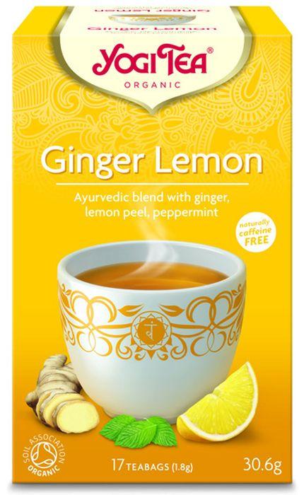 Yogi Tea Ginger Lemon травяной чай в пакетиках, 17 шт480804Аюрведическая чайная смесь Yogi Tea Ginger Lemon с имбирём, кожурой лимона и перечной мятой. Пряный имбирь согревает сердце и улучшает настроение. Кислый фруктовый вкус лимона освежает мысли и вселяет бодрость. Сорго лимонное, солодка и чёрный перец придают сладковатый и пряный вкус. Этот восхитительный чай освежает летом и согревает зимой. Девиз этого чая: Оптимистичные новые начинания, Будь лёгким, тогда ты сможешь быть светлым. Мы, люди, являемся целостными существами - с телом, разумом и душой. Для хорошего самочувствия нам необходимо осознанно относиться к питанию, заниматься физическими упражнениями для поддержки нашего тела, а также заботиться о духовном наполнении нашего разума и души. Yogi Tea дарит вдохновение с каждой чашкой чая. С помощью мудрых афоризмов на каждом чайном ярлычке и вдохновляющих йога упражнений на каждой упаковке, мы приглашаем вас обрести баланс вашего тела, души и духа, в то время как вы наслаждаетесь чашкой...