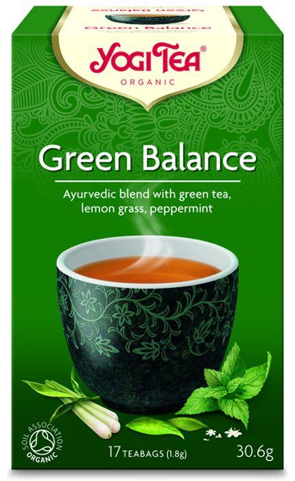 Yogi Tea Green Balance зеленый чай в пакетиках, 17 шт485004Аюрведическая чайная смесь Yogi Tea Green Balance с зелёным чаем, сорго лимонным и перечной мятой. Зелёный чай и комбуча представляют благородную азиатскую традицию баланса между физическим телом и духом. Древняя традиция употребления зелёного чая сочетается с использованием сорго лимонного, бузины и перечной мяты, превращающих его в великолепную чайную смесь. Девиз этого чая: Прекрасный баланс, Всё живое дышит одним воздухом – животные, деревья, люди. Воздух делится своей душой со всеми, чью жизнь он поддерживает. Мы, люди, являемся целостными существами - с телом, разумом и душой. Для хорошего самочувствия нам необходимо осознанно относиться к питанию, заниматься физическими упражнениями для поддержки нашего тела, а также заботиться о духовном наполнении нашего разума и души. Yogi Tea дарит вдохновение с каждой чашкой чая. С помощью мудрых афоризмов на каждом чайном ярлычке и вдохновляющих йога упражнений на каждой упаковке, мы приглашаем...