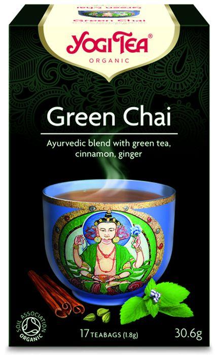 Yogi Tea Green Chai травяной чай в пакетиках, 17 шт