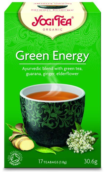 Yogi Tea Green Energy зеленый чай в пакетиках, 17 шт485104Аюрведическая чайная смесь Yogi Tea Green Energy с зелёным чаем, гуараной, имбирём, бузиной. Зелёный чай способствует повышению концентрации внимания. Он помогает сосредоточиться и лучше осознать настоящее и его перспективы. Насладитесь традиционно используемой в чайных смесях гуараной из тропических лесов, добавленной к зелёному чаю. Перечная мята, сорго лимонное и бузина придают свежую и фруктовую нотку этой великолепной чайной смеси. Девиз этого чая: Медитация в движении, Будь добор к своему телу, и тогда твоя душа захочет жить в нём. Мы, люди, являемся целостными существами - с телом, разумом и душой. Для хорошего самочувствия нам необходимо осознанно относиться к питанию, заниматься физическими упражнениями для поддержки нашего тела, а также заботиться о духовном наполнении нашего разума и души. Yogi Tea дарит вдохновение с каждой чашкой чая. С помощью мудрых афоризмов на каждом чайном ярлычке и вдохновляющих йога упражнений на каждой...