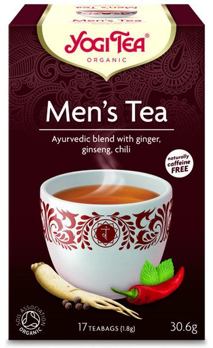 Yogi Tea Mens Tea травяной чай в пакетиках, 17 шт480904Аюрведическая чайная смесь Yogi Tea Mens Tea с имбирём, женьшенем и чили. Мужское начало в каждом из нас страдает от стрессов, недостаточного или чрезмерного питания, что может негативно сказаться на теле с точки зрения его силы и прочности. Баланс может быть восстановлен путём специальных упражнений, достаточного отдыха и здоровой пищи. И тогда мы можем в полной мере развить наши идеи и потенциал. Yogi Tea Чай для мужчин с имбирём, цикорием, женьшенем и перцем чили – чай с великолепным вкусом, которым вы можете наслаждаться в любое время дня и который помогает найти баланс между нашей внутренней мужской и женской силой. Девиз этого чая: Прочность, Процветание начинается с моей готовности отдавать. Мы, люди, являемся целостными существами - с телом, разумом и душой. Для хорошего самочувствия нам необходимо осознанно относиться к питанию, заниматься физическими упражнениями для поддержки нашего тела, а также заботиться о духовном...