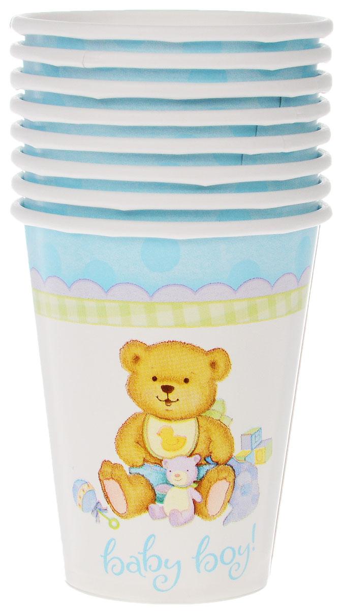 Веселая затея Стакан Медвежонок мальчик, 8 шт1502-1068Стакан Веселая затея Медвежонок мальчик изготовлен из качественной пищевой бумаги. Оформлен изображением милого медвежонка-мальчика в окружении игрушек. Изделие станет великолепным дополнение к детскому торжеству. Такая посуда является экологически чистой, не наносит вреда здоровью и достаточно быстро самостоятельно утилизируется, не загрязняя окружающую среду. В комплекте 8 стаканов.