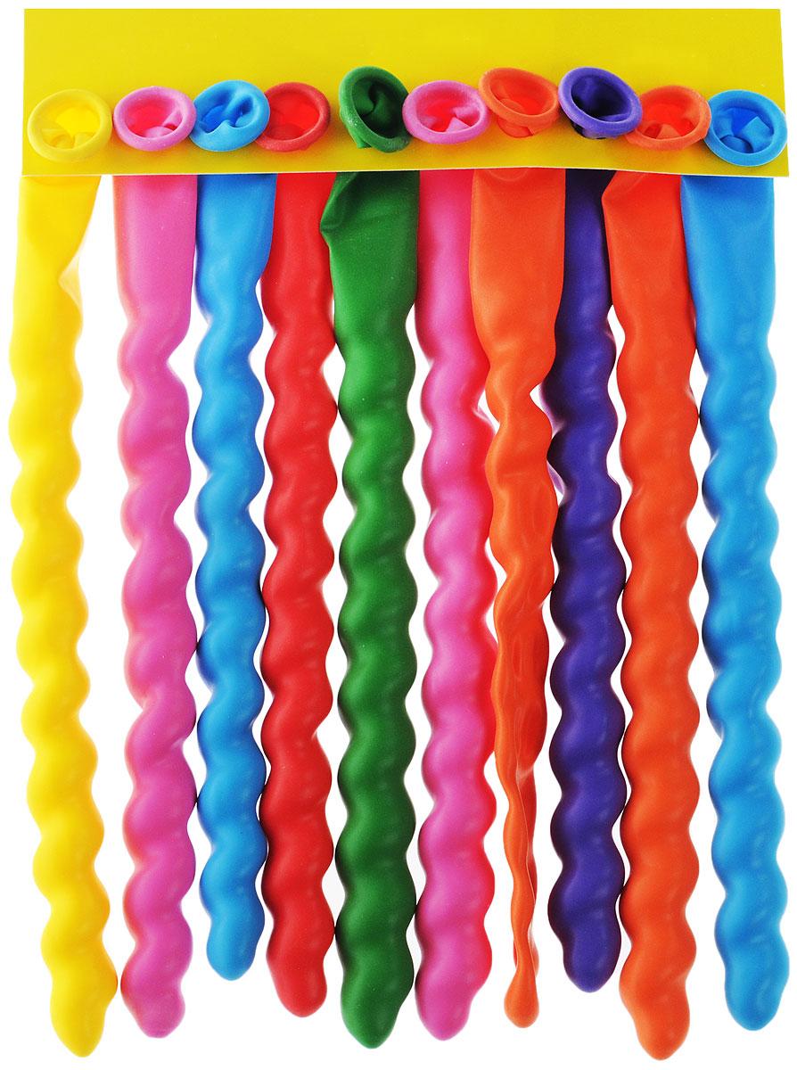 Веселая затея Набор воздушных шаров Спираль, 10 шт1111-0363Набор воздушных шаров Веселая затея Спираль станет отличным украшением любого торжества. Изготовлены из прочного натурального латекса. Набор из 10 разноцветных шариков, закрученных как спиральки, помогут украсить место вашего праздника, праздничный стол или стать достойной наградой за победу в конкурсе. Эти яркие праздничные аксессуары поднимут настроение вам и вашим гостям!