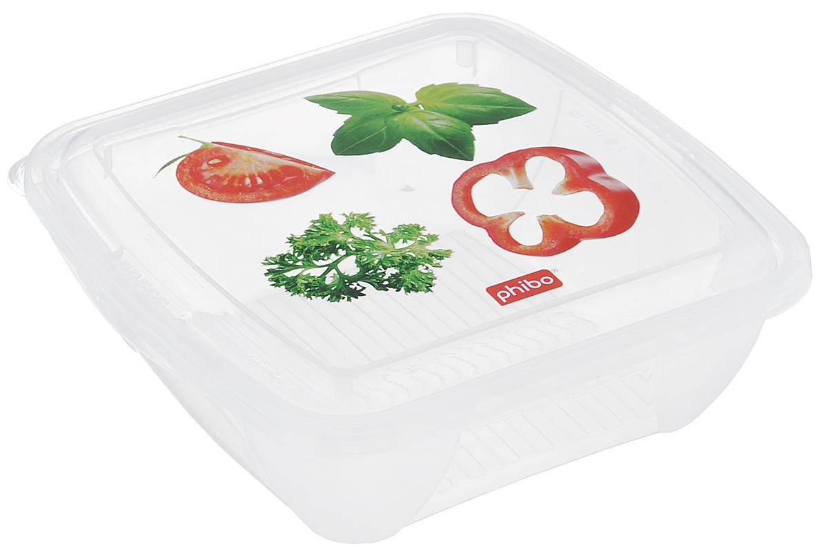 Контейнер для холодильника и СВЧ Phibo Fresco, цвет: прозрачный, красный, зеленый, 0,5 лС11127_овощи/пряностиКонтейнер для холодильника и СВЧ Phibo Fresco изготовлен из высококачественного прозрачного пластик и не содержит Бисфенол А. Крышка легко и плотно закрывается, украшена декором. Контейнер устойчив к воздействию масел и жиров, легко моется. Подходит для использования в микроволновых печах, выдерживает хранение в морозильной камере. Не рекомендуется мыть в посудомоечной машине. Объем контейнера: 0,5 л.