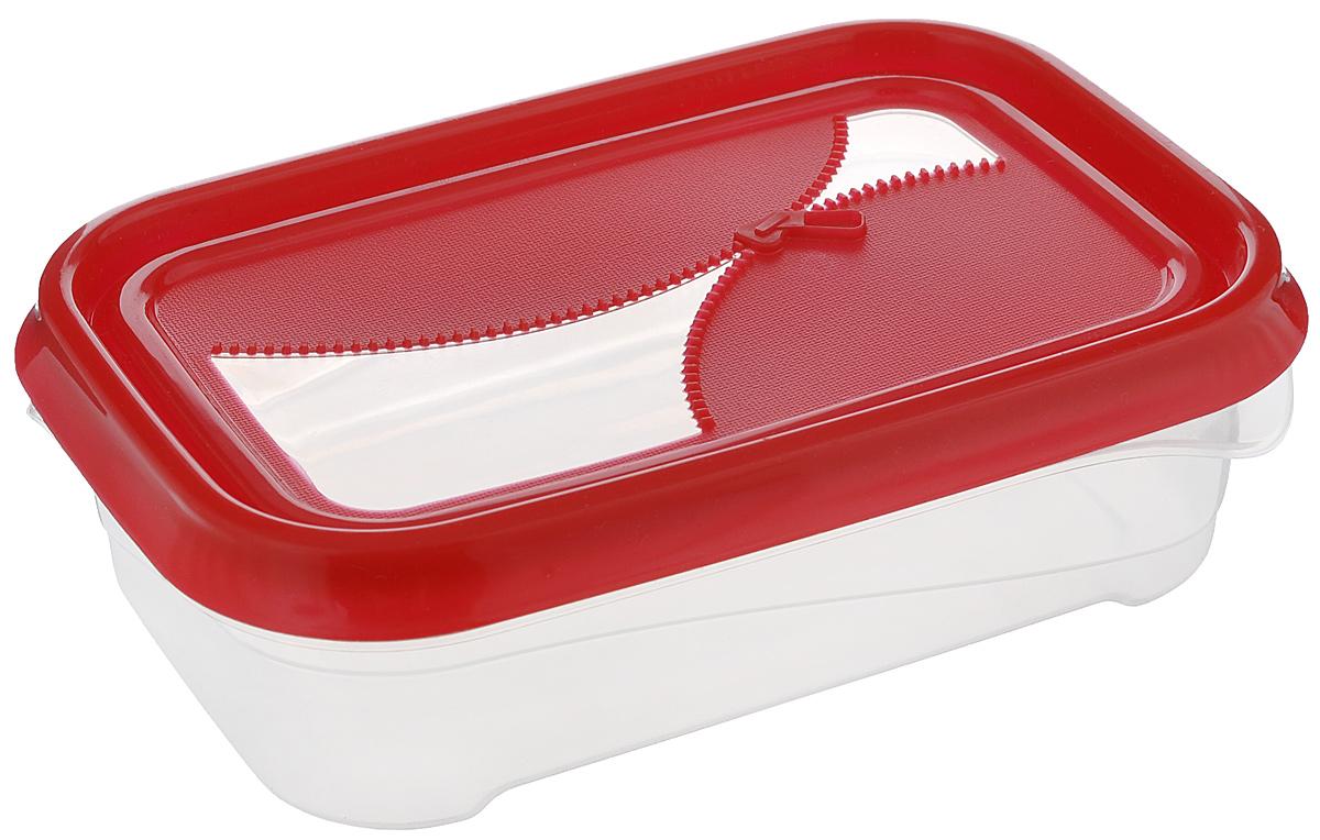 Контейнер для холодильника и СВЧ Phibo Ziplook, цвет: красный, прозрачный, 0,5 лС11731_красныйКонтейнер для холодильника и СВЧ Phibo Ziplook изготовлен из высококачественного прочного пластика, устойчивого к высоким температурам. Яркая цветная крышка, украшенная рельефом в виде молнии, плотно закрывается, дольше сохраняя продукты свежими и вкусными. Контейнер идеально подходит для хранения пищи, его удобно брать с собой на работу, учебу, пикник или просто использовать для хранения пищи в холодильнике. Можно использовать в микроволновой печи при температуре до +100°С без крышки и для заморозки в морозильной камере при минимальной температуре -24°С. Можно мыть в посудомоечной машине при температуре до +75°С.