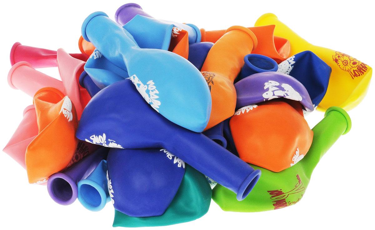 Веселая затея Набор воздушных шаров Поздравления, 30 шт1111-0033Набор воздушных шаров Веселая затея Поздравления включает в себя 30 разноцветных шариков с поздравлениями. Изготовлены из прочного натурального латекса. Воздушные шарики помогут украсить место вашего праздника, праздничный стол или стать достойной наградой за победу в конкурсе. Эти яркие праздничные аксессуары поднимут настроение вам и вашим гостям!