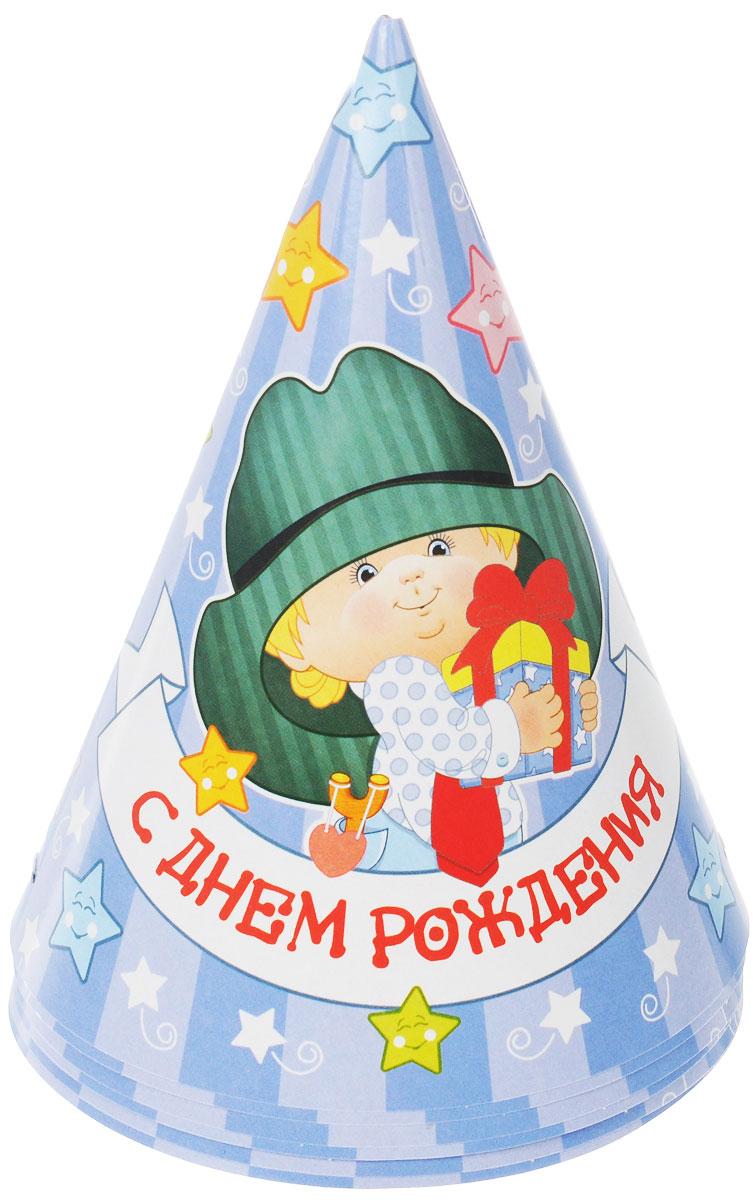Веселая затея Колпак С Днем рождения: Мальчик ретро, 6 шт1501-1854Колпак Веселая затея С Днем рождения: Мальчик ретро развеселит вас и ваших друзей в праздничный день. Колпак выполнен из картона ярких цветов и оформлен изображением милого мальчика в шляпе. Имеет резинку для надежного крепления на подбородке. Порадуйте себя и родных, дарите подарки и хорошее настроение! Почувствуйте волшебные минуты ожидания праздника, создайте праздничное настроение вашим дорогим и близким! В комплекте 6 колпаков.