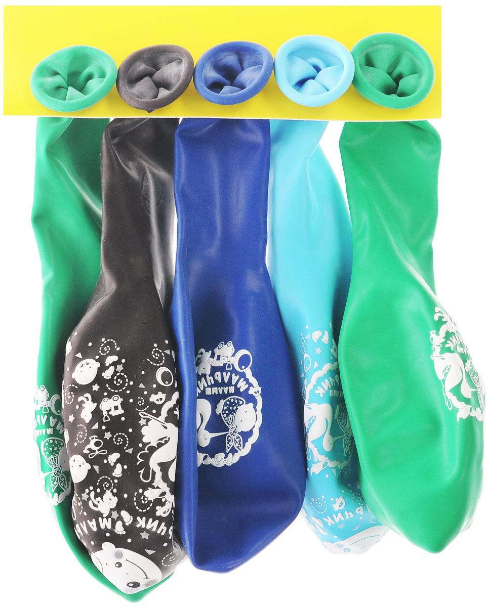 Веселая затея Набор воздушных шаров Малыш мальчик, 5 шт1111-0350Набор воздушных шаров Веселая затея Малыш мальчик - яркий красочный штрих на радостном событии - рождении мальчика. Шарики изготовлены из натурального латекса. В наборе представлены 5 разноцветных шаров. Уникальные воздушные шарики с особой технологией пятистороннего нанесения рисунка - Шелкография сделают торжество поистине искрометным. Шарики легкие и приятные на ощупь. Они создадут неповторимую праздничную атмосферу торжества и станут отличным украшением помещения.