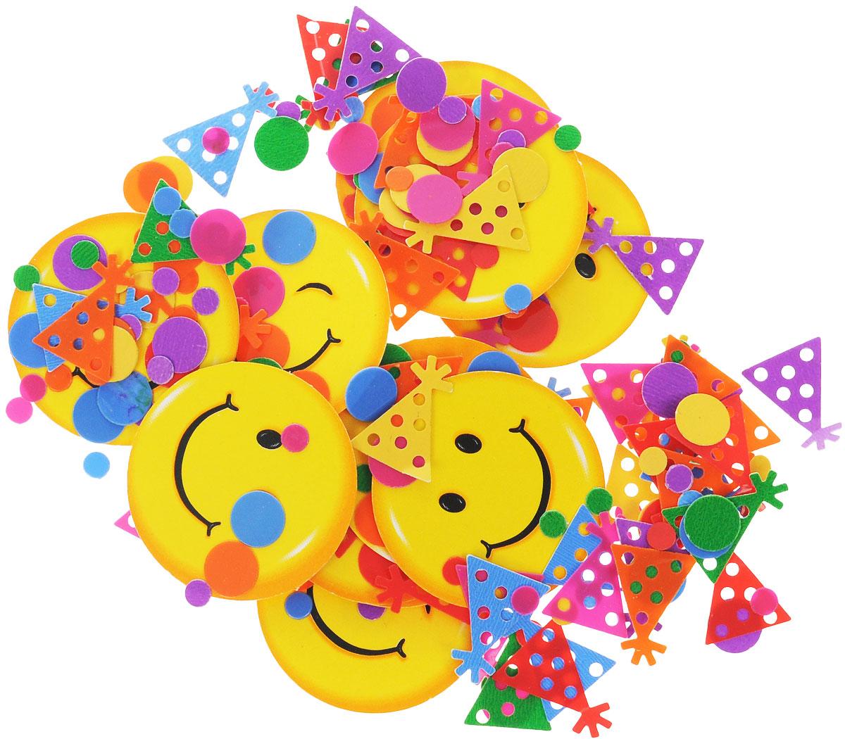 Веселая затея Конфетти Улыбки, 14 г1501-0218Конфетти Веселая затея Улыбки - неотъемлемый атрибут праздников, триумфальных шествий, а также свадебных торжеств. Выполнено из прочного материала в форме веселых смайликов и различных разноцветных мелких фигурок. Конфетти осыпают друг друга участники празднеств или его сбрасывают сверху. Конфетти, рассыпанное на столе, является необычной и привлекательной формой украшения праздничного застолья. Еще один оригинальный способ порадовать друзей и близких - насыпьте конфетти в конверт с открыткой - это будет неожиданный сюрприз! Это чудесное украшение принесет в ваш дом или офис незабываемую атмосферу праздничного веселья!