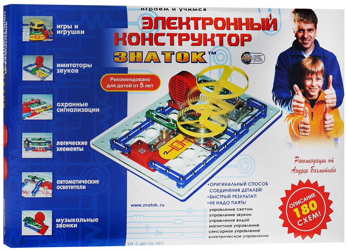 Знаток Конструктор электронный45486Электронный конструктор Знаток это игра, тесно соединяющая знания о физическом мире, удовольствие и практическую полезность. Собирая те или иные электрические цепи, можно отдыхая, познакомиться с удивительным миром электроники. Эта покупка на долгие годы, т.к. по мере взросления ребенок будет открывать для себя все новые и новые возможности электроники (реально до 11 класса средней школы). Это не только игрушка, но и мощный обучающий инструмент, способный помочь в освоении школьной программы. Многие схемы носят не только познавательный характер, но и пригодны для практического использования. Оригинальный очень простой способ соединения деталей. Не надо паять и, следовательно, вдыхать вредный дым с примесями припоя. Даже если ребенок сейчас не сможет собирать предложенные схемы, то Вы можете это легко сделать сами и порадовать ребенка массой забавных электронных игрушек. Заодно повысить свой авторитет. В конструкторе...