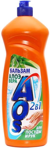 Жидкость для мытья посуды AOS Бальзам. Алоэ вера, 1 л446-3Жидкость для мытья посуды AOS Бальзам. Алоэ вера эффективно удаляет любые загрязнения даже в холодной воде, отлично смывается водой. Благодаря новой сбалансированной формуле средство отлично пенится, придает посуде кристальный блеск, после ополаскивания не оставляет разводов. Бальзам алоэ вера смягчает и увлажняет кожу рук.