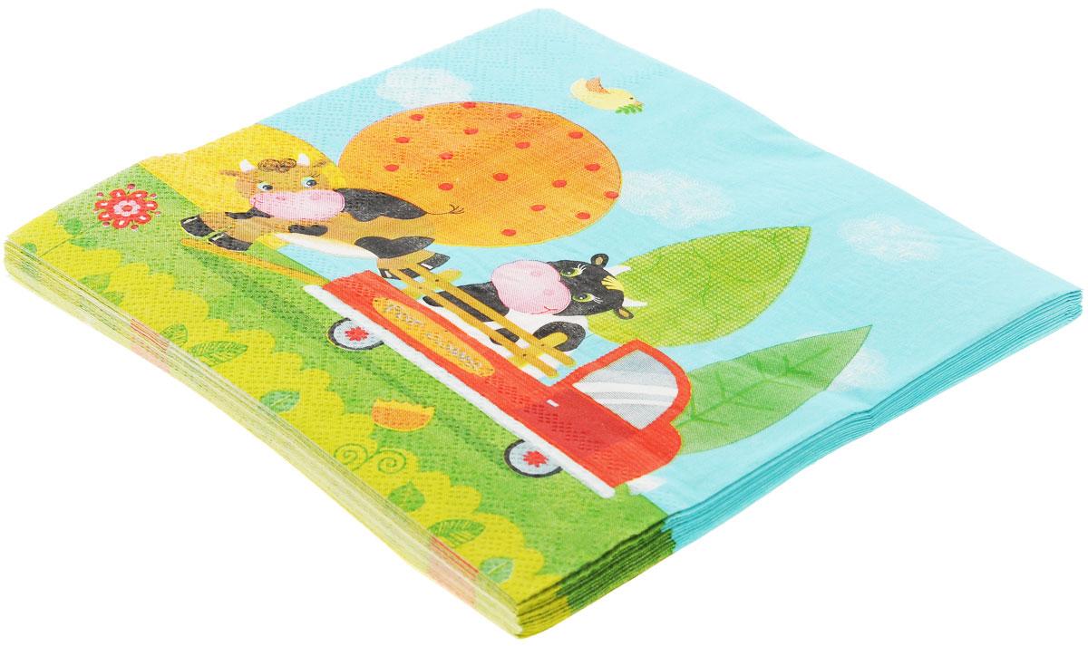 Веселая затея Салфетки Забавная ферма, трехслойные, 12 шт1502-1285Трехслойные бумажные салфетки Забавная ферма с красочным рисунком станут отличным дополнением детского праздничного стола. Свинка, лошадка, курочки - добрая сказка, собранная из бабушкиных лоскутков! На лугу, на лугу, на лугу пасутся Ко...! В упаковке 12 ярких трехслойных салфеток.