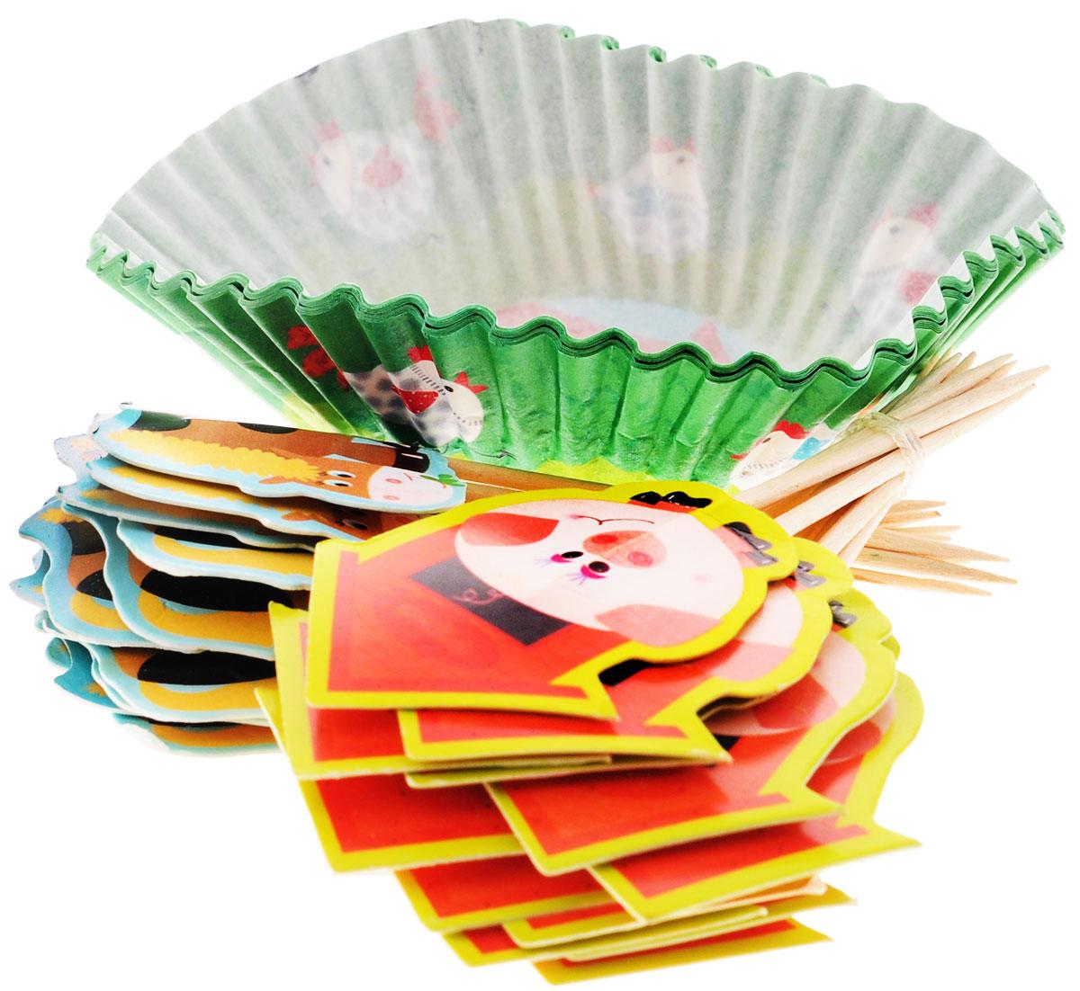 Веселая затея Тарталетки и Украшения для выпечки Забавная Ферма, 48 шт1502-1357Украсьте праздник в деревенском стиле тарталетками с курочками и хрюшками! В набор входят 24 зеленые тарталетки, 12 пик для украшения маффинов с лошадкой и 12 пик с поросенком. Вы также можете использовать пики отдельно как шпажки для канапе. Бумажные тарталетки можно использовать для упаковки или для непосредственной выпечки кексов. Чтобы приготовить угощения в тарталетках, вы можете предварительно поставить их в поддерживающую силиконовую или металлическую форму, заполнить тестом и выпекать кексы. Второй вариант использования - поставить в тарталетки уже готовую выпечку, монпасье, сухофрукты, орешки и другие сладости. Тарталетки не обязательно заполнять сладким, с таким же успехом можно насыпать в них алмазы и рубины, пиастры и дублоны!