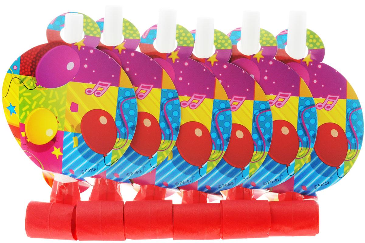 Веселая затея Язык-гудок Мозаика, с карточкой, 6 шт1501-1911Гудок при использовании разворачивает длинную часть из бумаги, издавая характерный громкий звук. Игрушка дополнена круглой яркой карточкой с изображением цветных шаров. Красочные гудки с разворачивающимися язычками - это не просто источник веселого шума. По древним поверьям свистульки отпугивали злых духов и вызывали добрых. В языческие заклинания уже давно никто не верит, но почему бы не добавить элемент волшебства на своей вечеринке, раздав друзьям разноцветные языки-гудки. В комплекте 6 гудков.