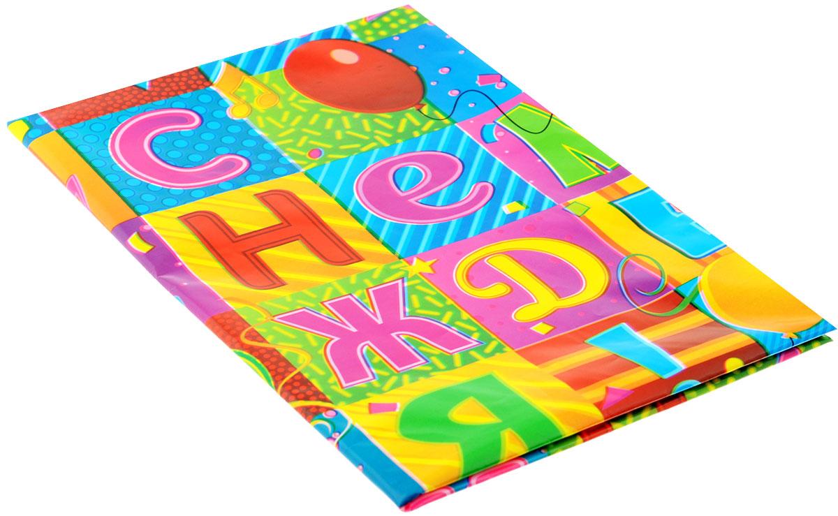 """Веселая затея Скатерть """"С Днем Рождения! Мозаика"""", 130 см х 180 см"""